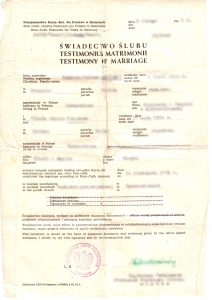 Marriage Certificate, vintage, document. vital records