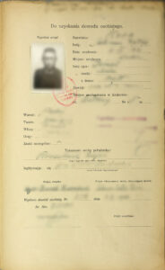 Vintage Polish ID card application form which can help you get Polish Citizenship Certificate