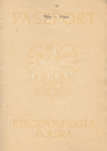 A page from Polish Passport issued before World War II which can help you getting Polish Citizenship Certificate