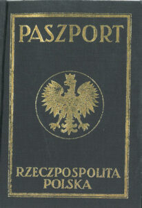 Pre WWII Polish Passport Cover which can help you getting Polish Citizenship Certificate