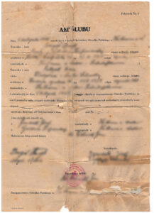 Vintage Polish Marriage Certificate, vital records
