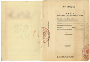 Reemigration registration card which can help you get Polish Citizenship Certificate