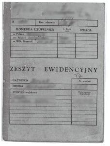 Polish book of military records - zeszyt ewidencyjny. Extremely useful when applying for Polish Citizenship Certificate.