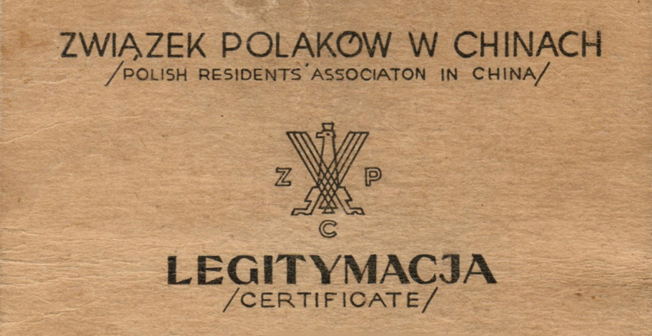 Polish residents' association in china ID CARD