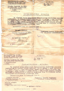 Marriage certificate, vintage document, yellow pages, vital records