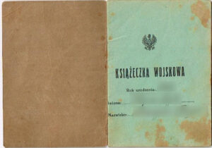 Polish book of military records - książeczka wojskowa. Document you can base your Polish Citizenship application on.