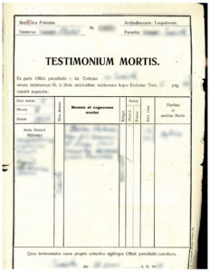 Polish Death Certificate 1934, vital records